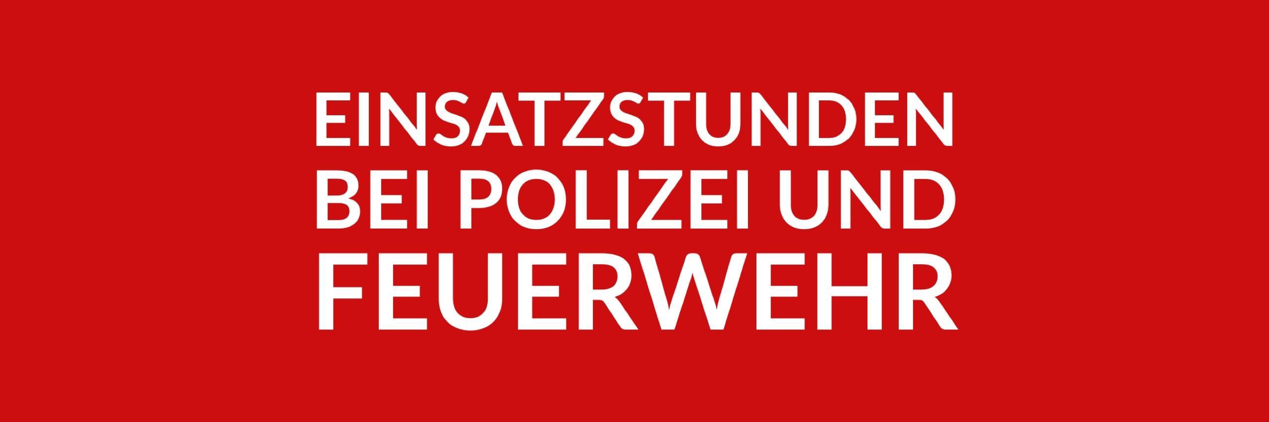 Anfrage 'Einsatzstunden bei Polizei und Feuerwehr in Wedding, Moabit und Gesundbrunnen' (PDF)