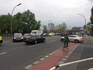 Einmündung Tegeler in die Fennstraße