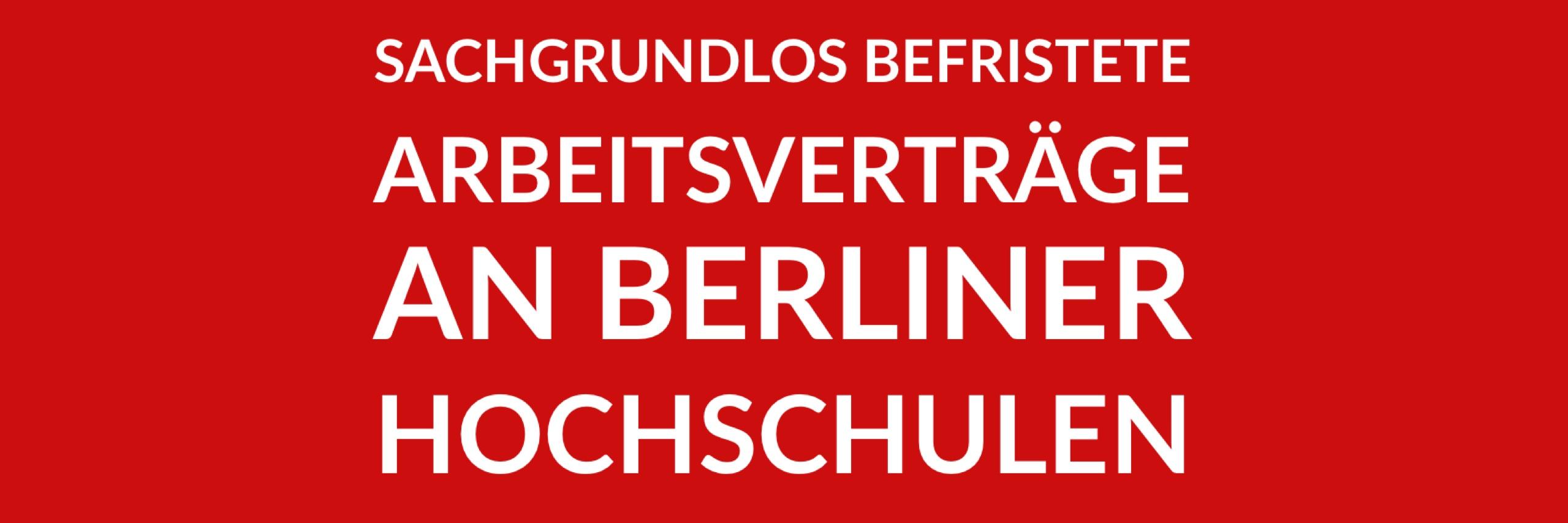 Anfrage 'Sachgrundlos befristete Arbeitsverträge an Berliner Hochschulen' (PDF)