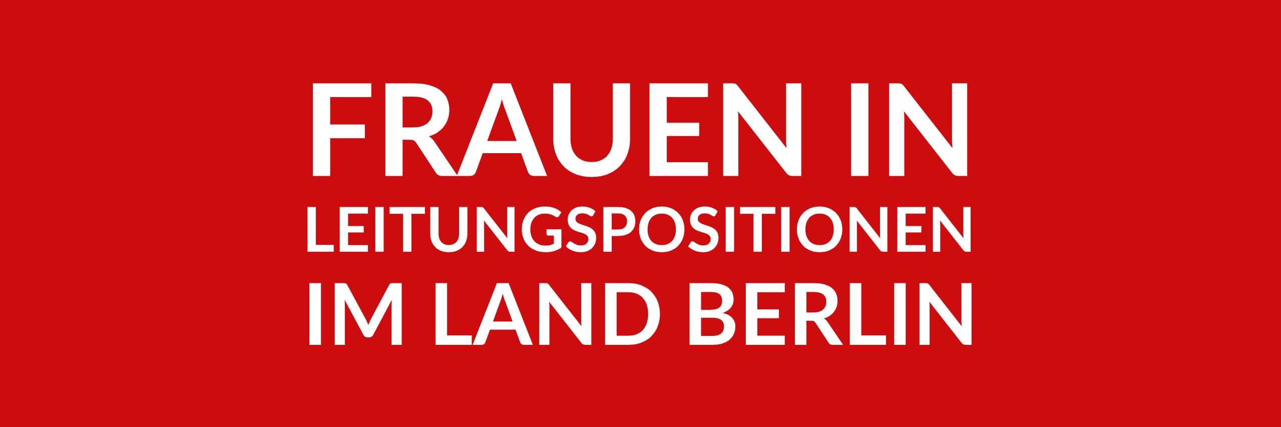 Anfrage 'Frauen in Leitungspositionen im Land Berlin' (PDF)