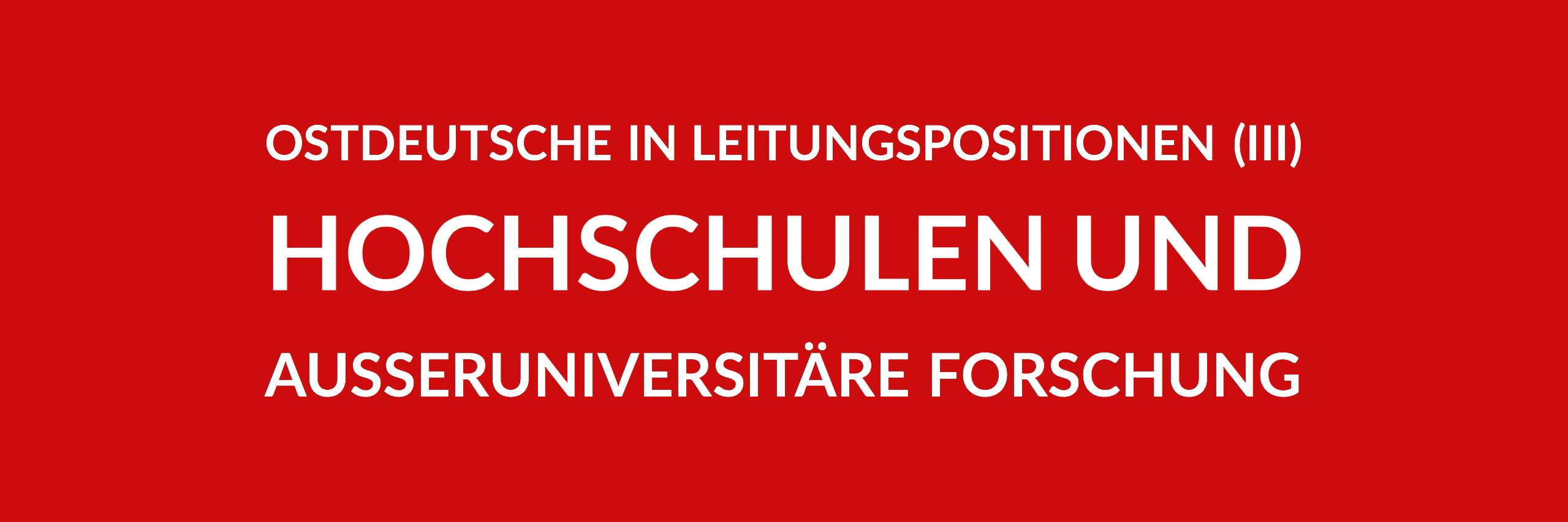 Anfrage 'Ostdeutsche in Leitungspositionen im Land Berlin (III) - Hochschulen und außeruniversitäre Forschung' (PDF)